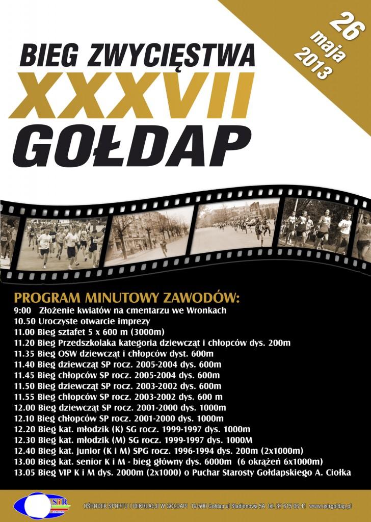 plakat bieg zwyciestwa program