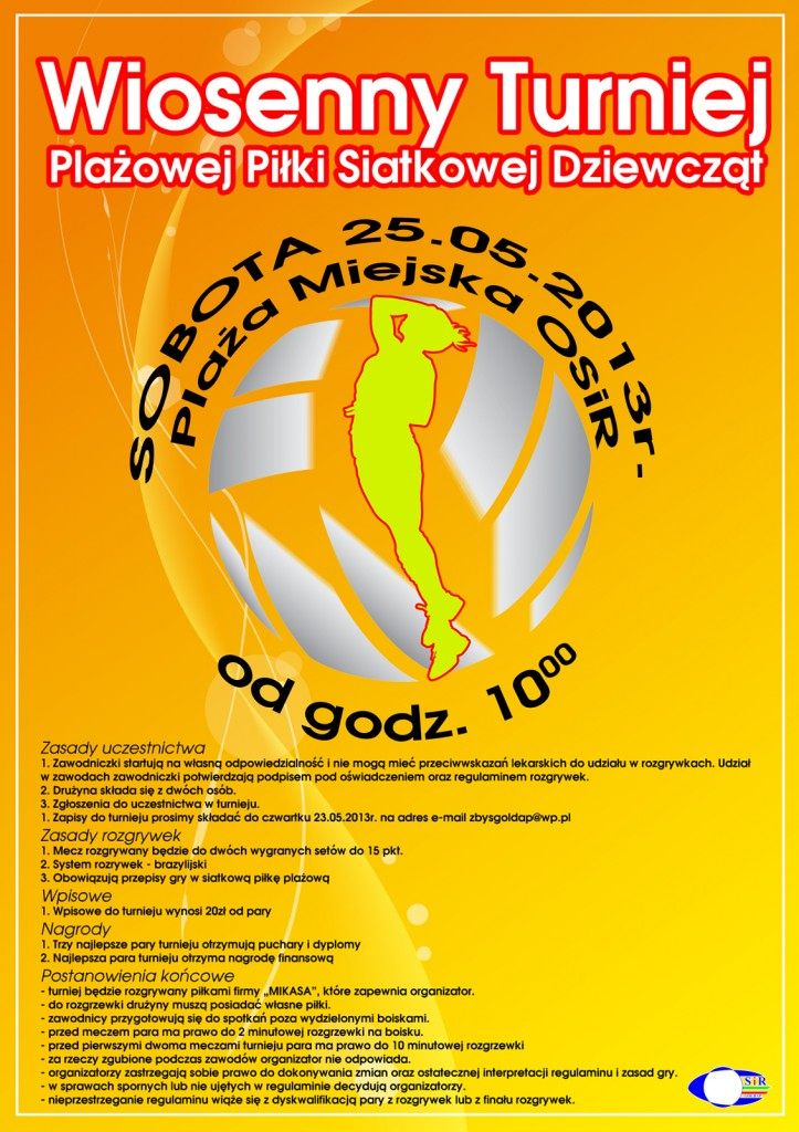 plakat siatkowka