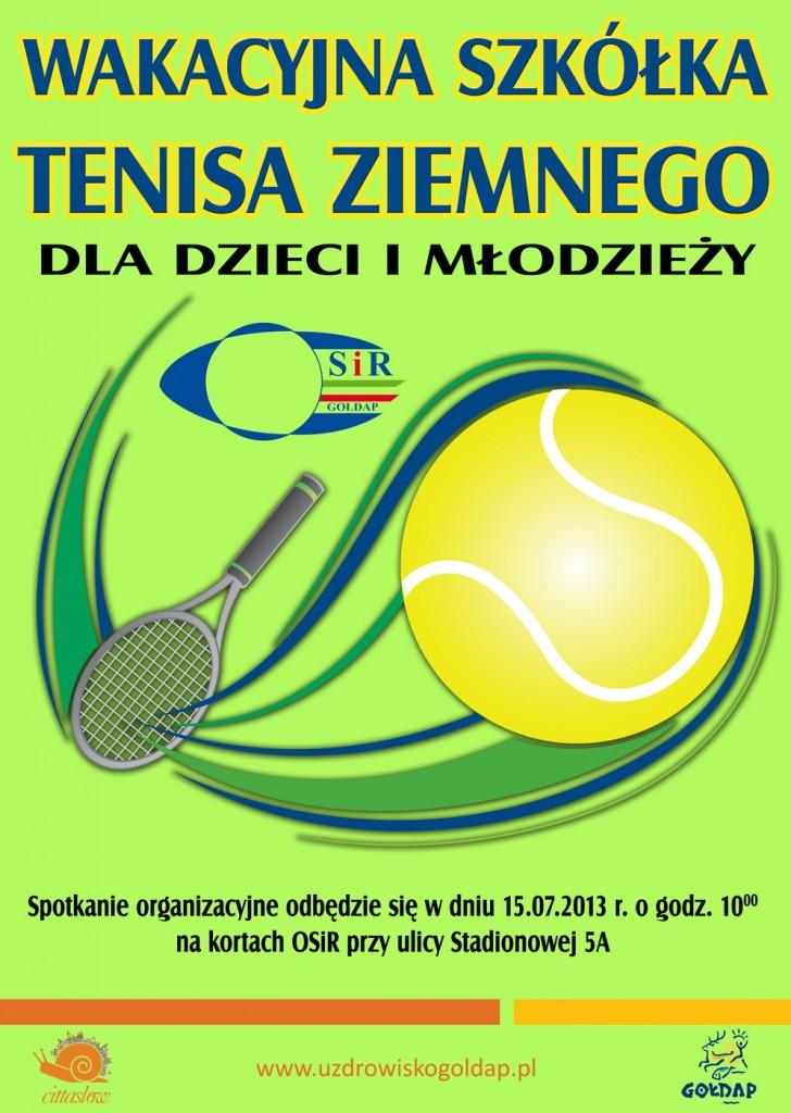 Plakat tenis OSIR 2013