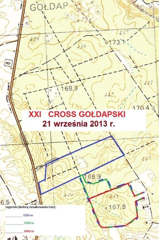 XXI Cross Gołdapski 21.09.2013 - trasy