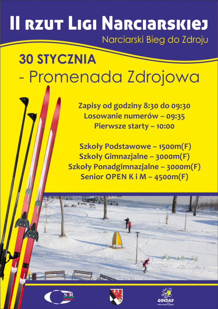 plakat 2 rzut ligi narciarskiej
