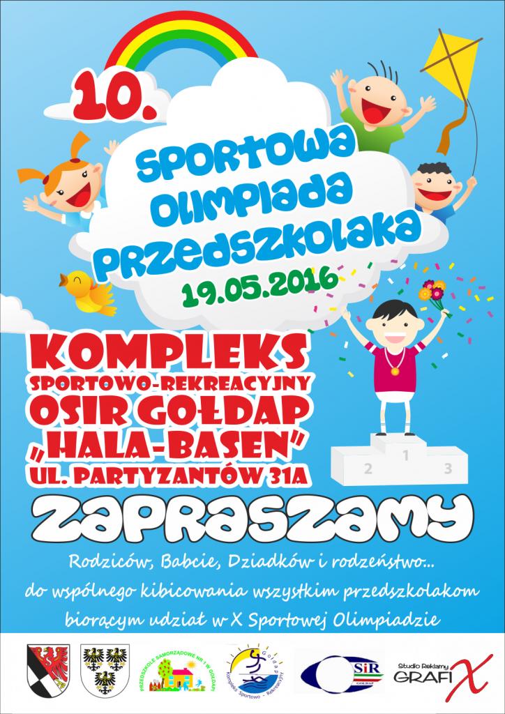 olimpiada przedszkolaka 2016 plakat